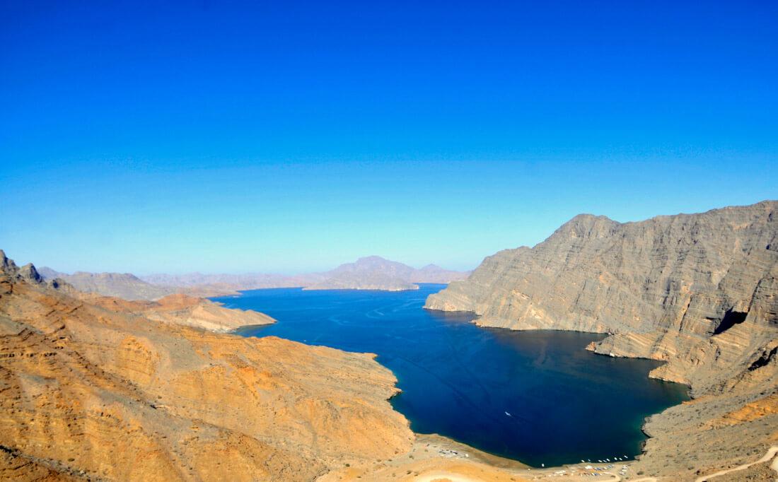 La costa de Musandam, Omán