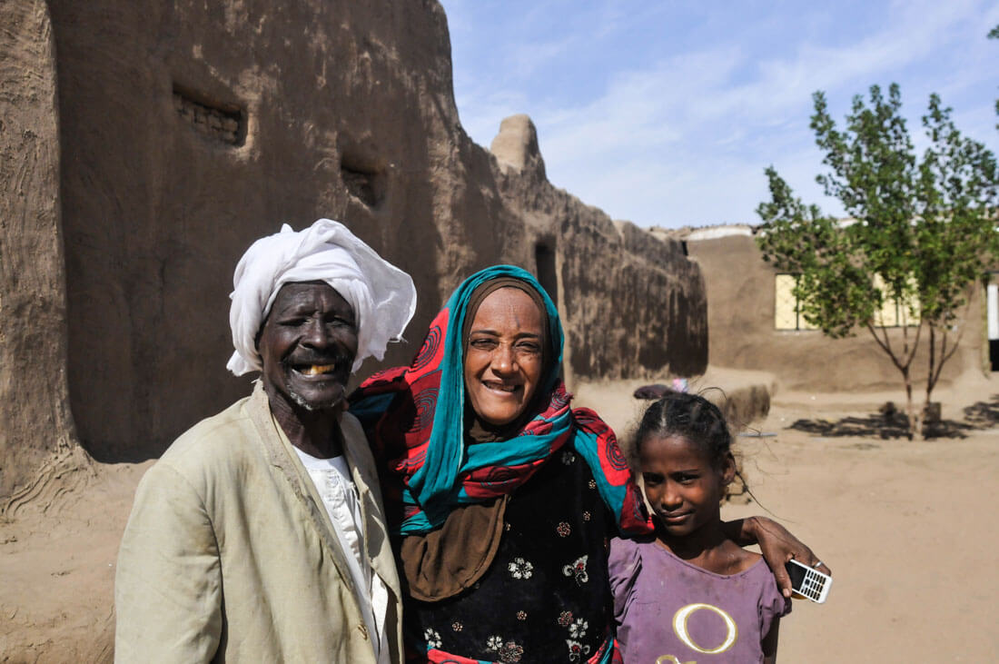 A Nubian family from Sudan