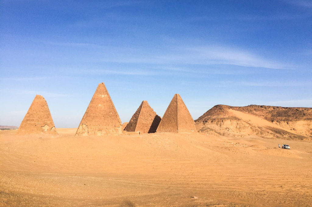 Jebel Barkal and the well-preserved Nubian pyramids