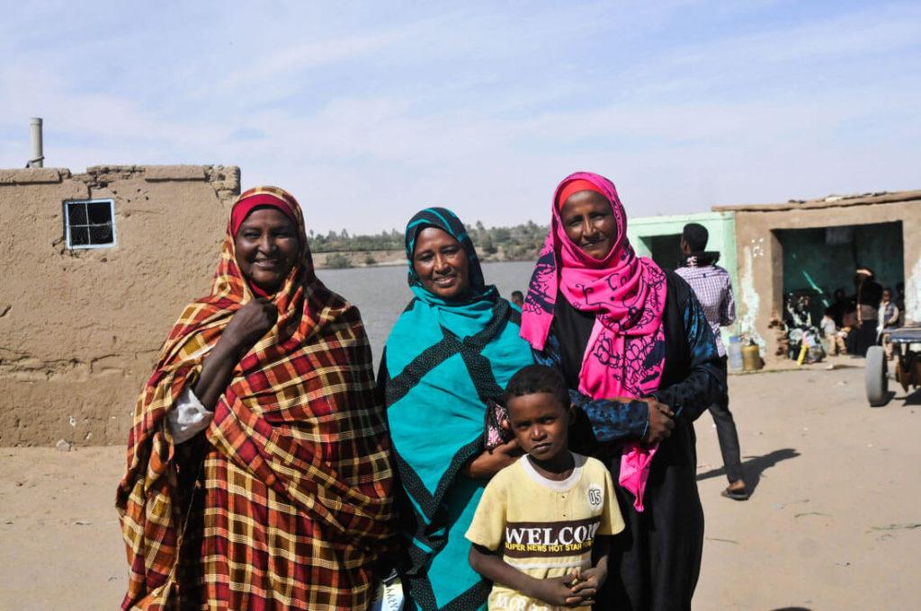 Nubian Sudanese women
