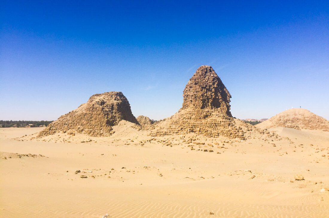 The deterioration of the pyramids of Nuri, Sudan