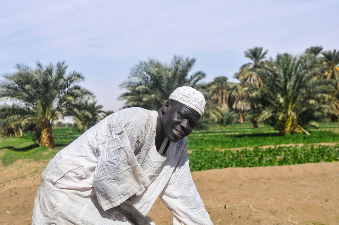 A Nubian peasant working the field in Sudan