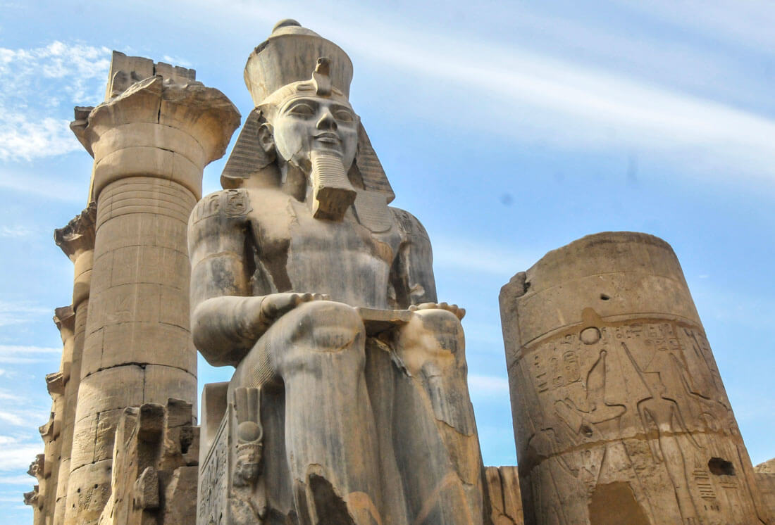 how to visit luxor independently in 2 days against the compass