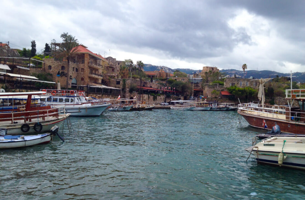 Byblos beautiful harbor