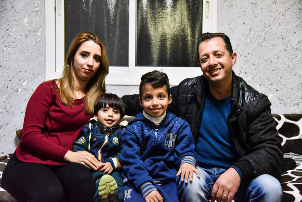 Palestinian refugee family