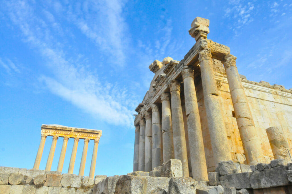 Baalbek . The temple of bacchus and the temple of Jupiter