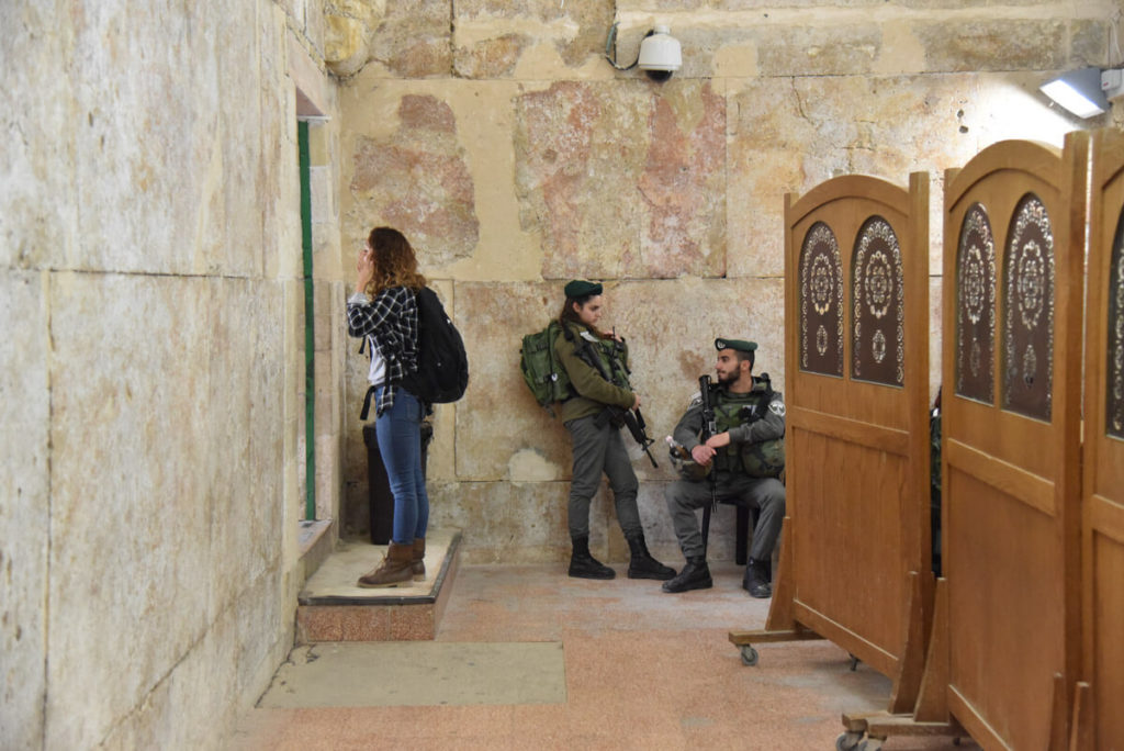 Abraham's tomb military security