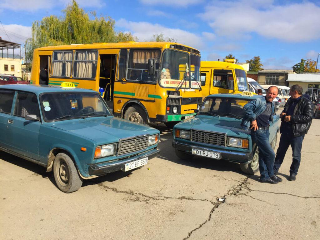 Bus & Taxi stop Azerbaijan