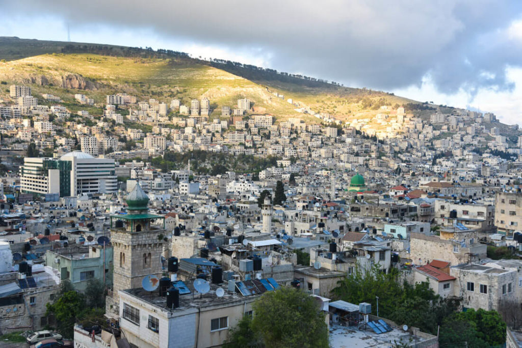 The city of Nablus, the second biggest city in the West Bank