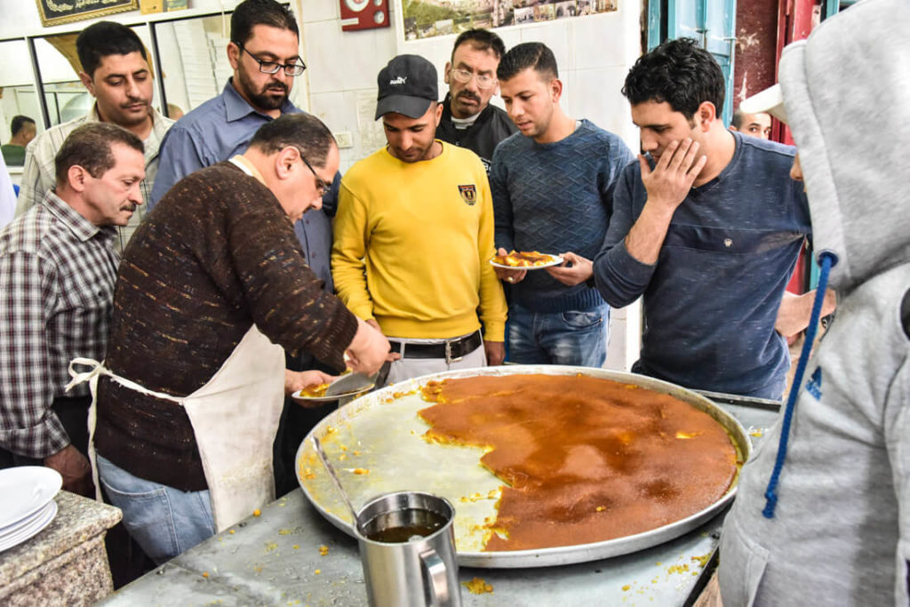 Al Akhsa, Nablus. The most popular place for kunafeh