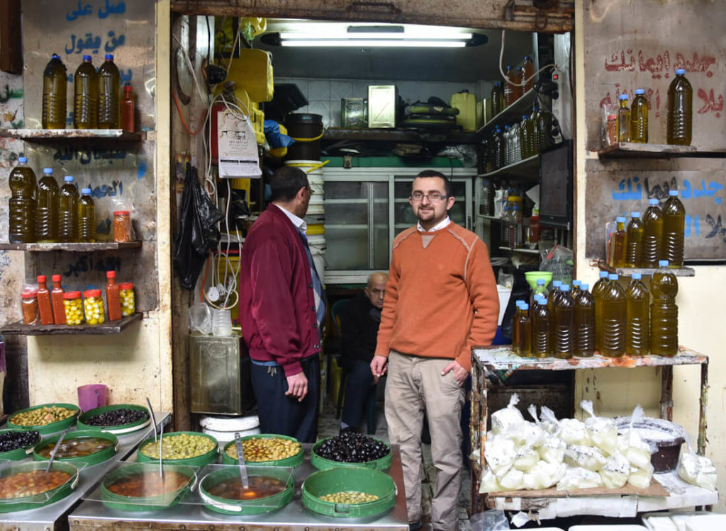 An olive oil shop in the Old city of Nablus