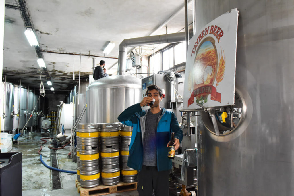 Visiting Taybeh micro-brewery