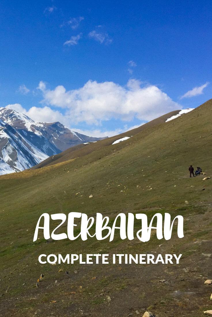 backpacking in Azerbaijan
