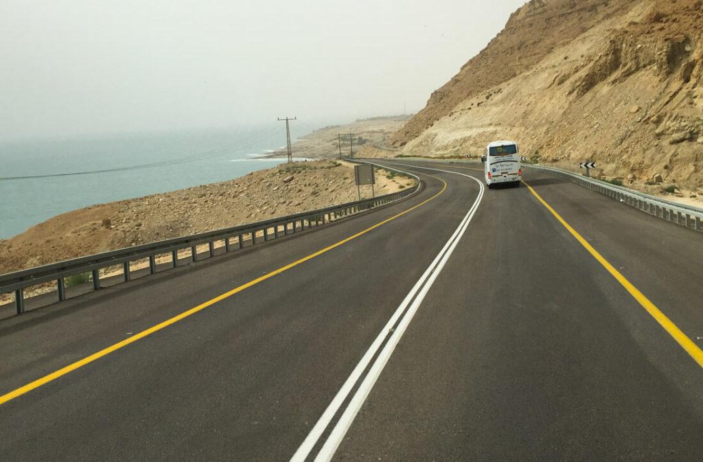La carretera del Mar Muerto, Israel