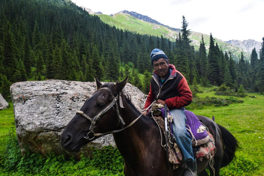 A Kyrgyz horseman