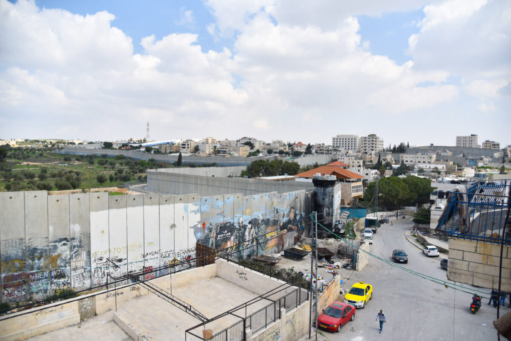 Visiting Palestine - Aida Refugee camp and the separation wall