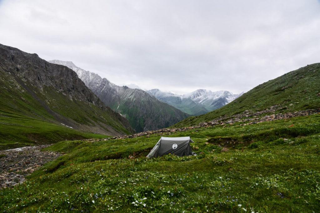 Camping when trekking in Karakol