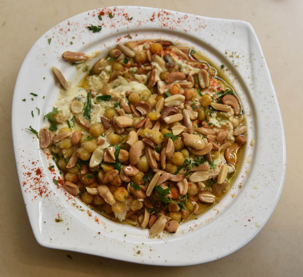 Fatteh, a Middle Eastern meal