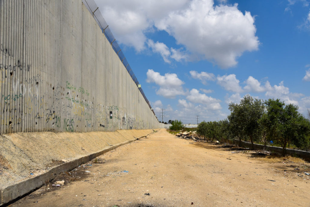 The separation wall of Qalqilya, West Bank