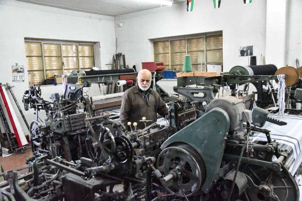 The Herbawi kuffiya factory, Hebron