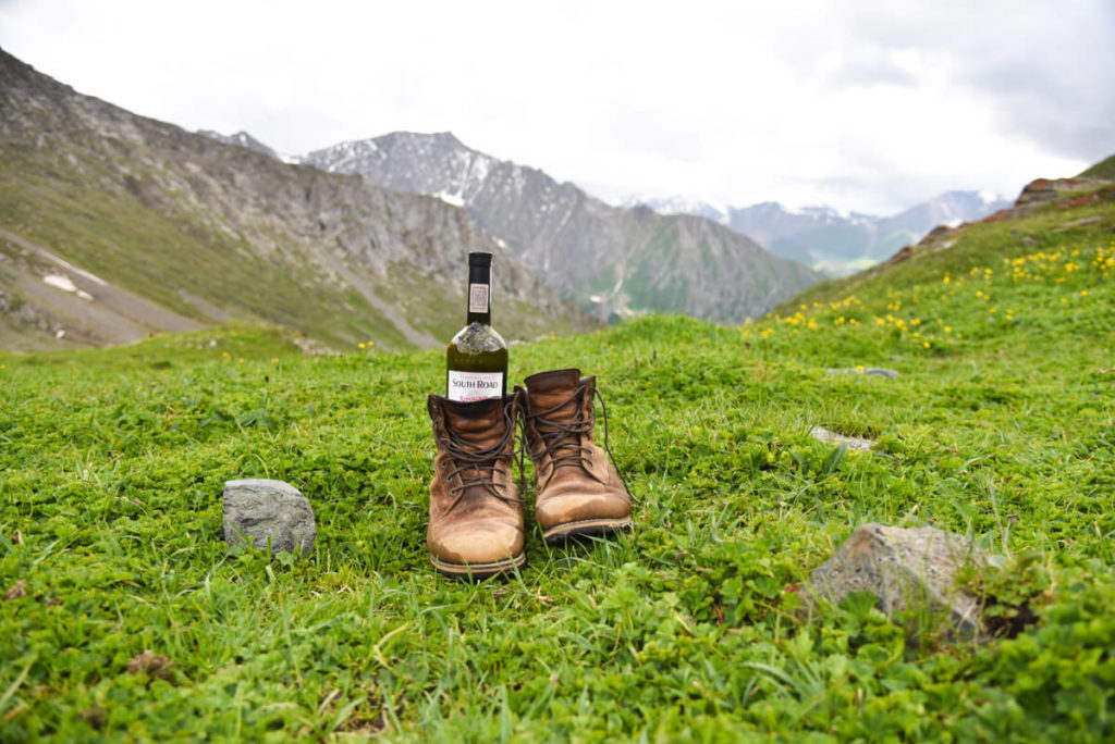 wine in a boot, Kyrgyzstan