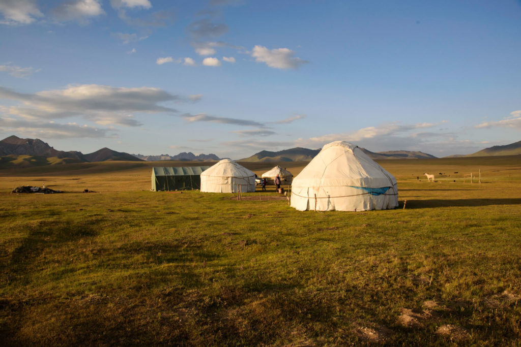 A yurt camp in Song Kul