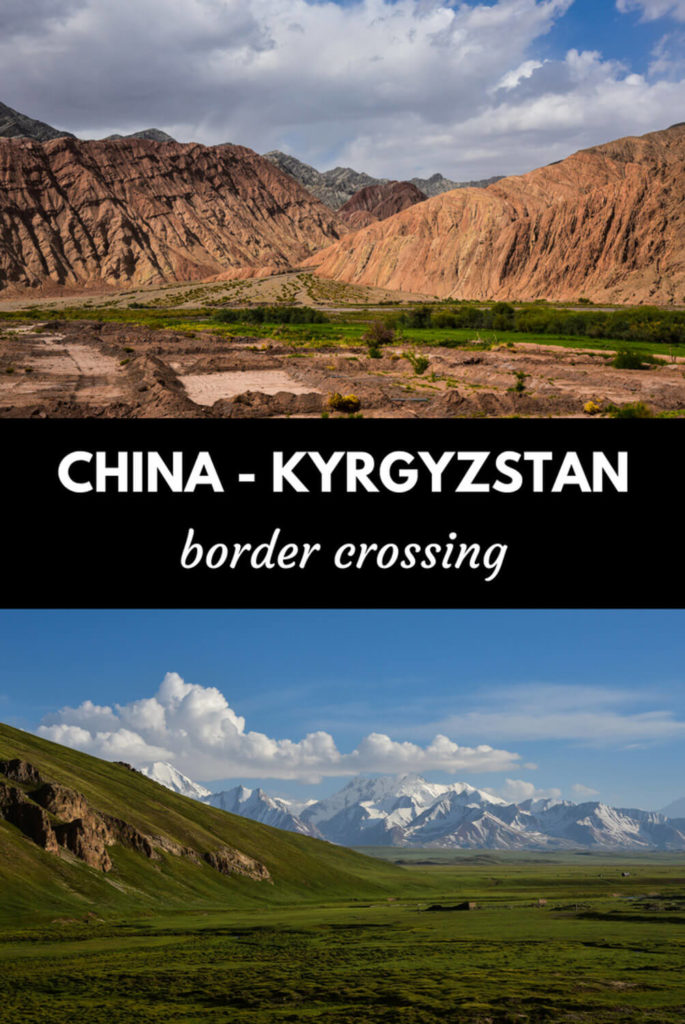 China-Kyrgyzstan border crossing at Irkeshtam
