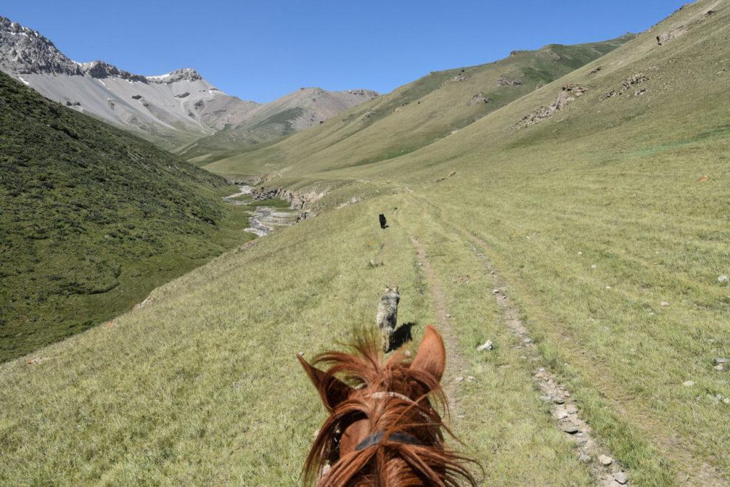 Montar en caballo en Kirguistán