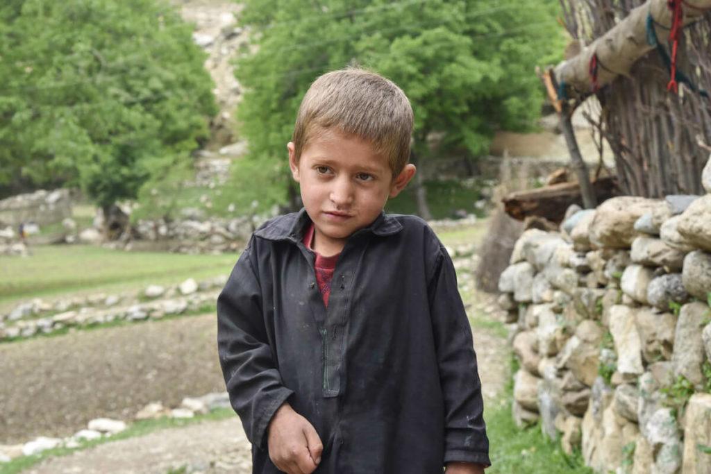 Blonde Afghan kids