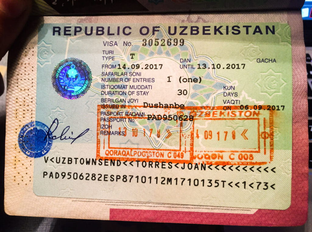 How to get an Uzbekistan visa in 2019 - Against the Compass