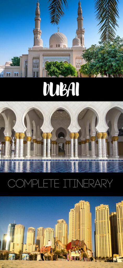 Dubai itinerary