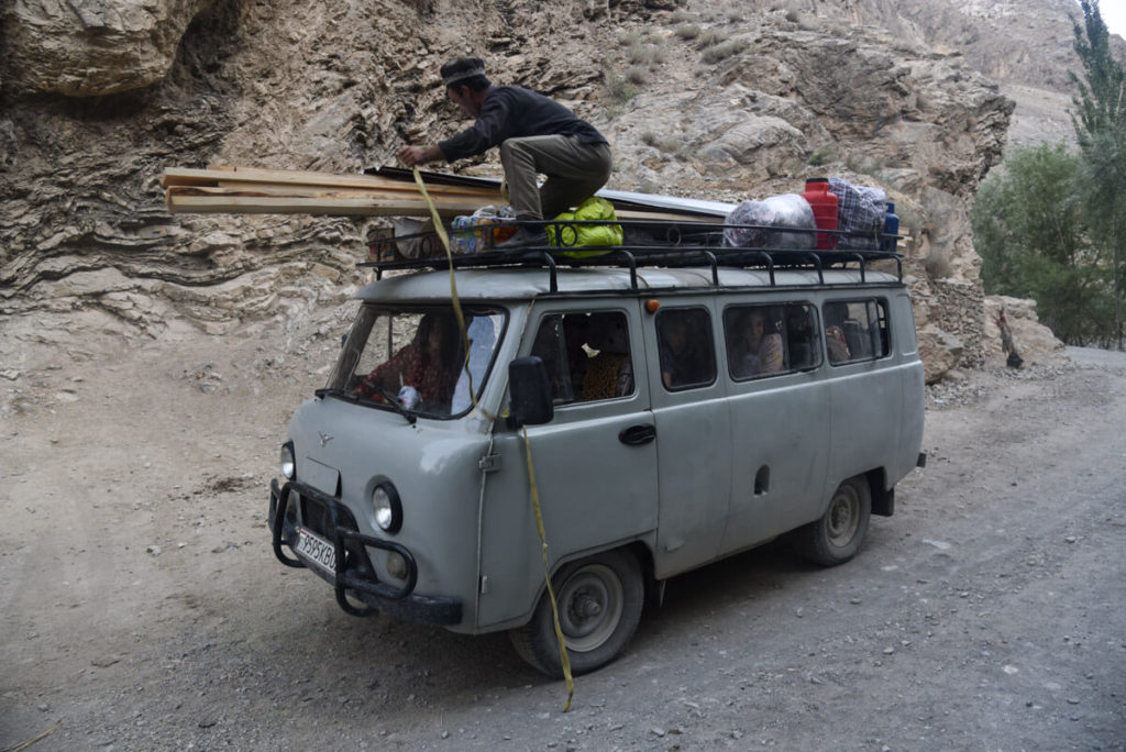 traveling in UAZ