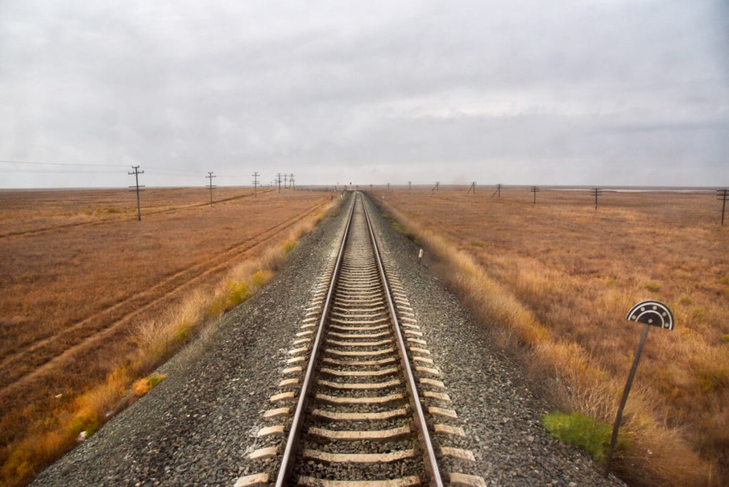 Train in Kazakhstan