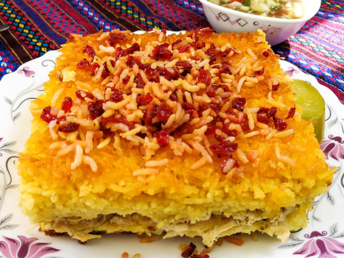 qué comer en Irán