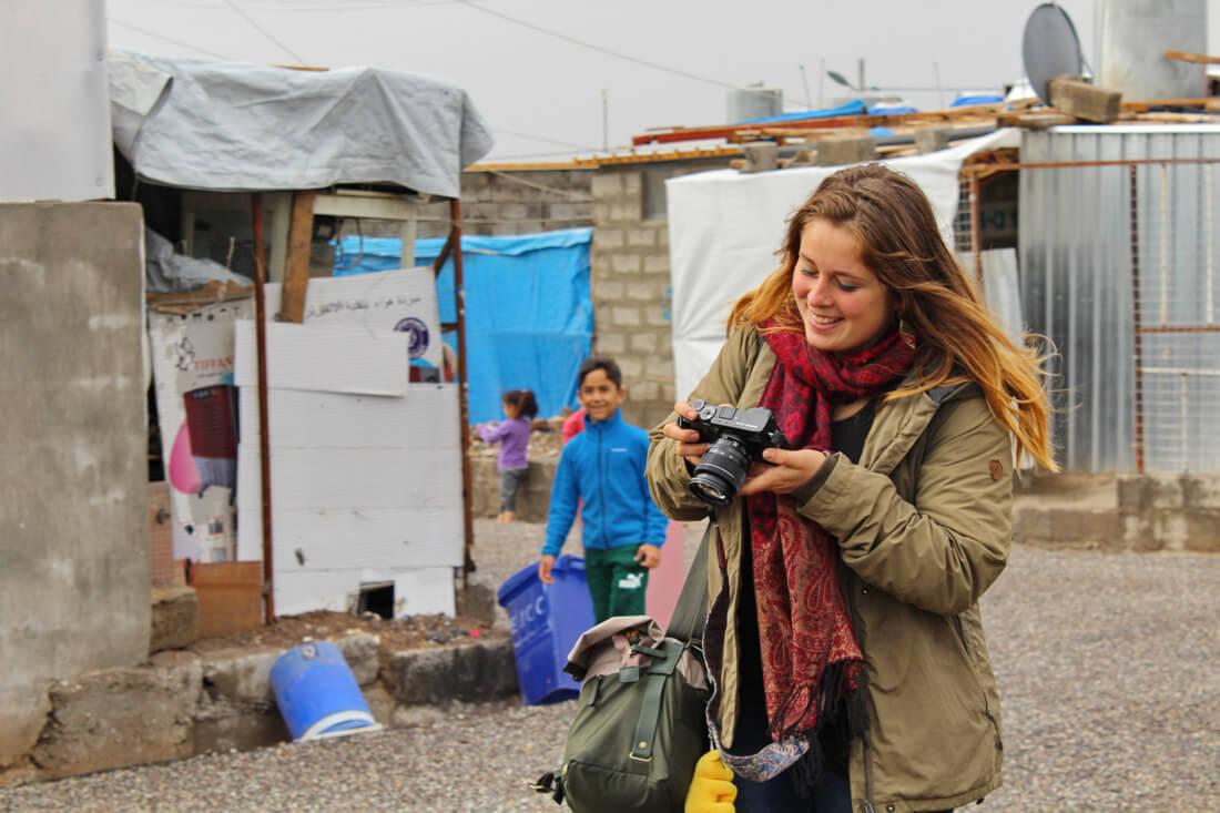 mujer viajando al Kurdistan iraquí