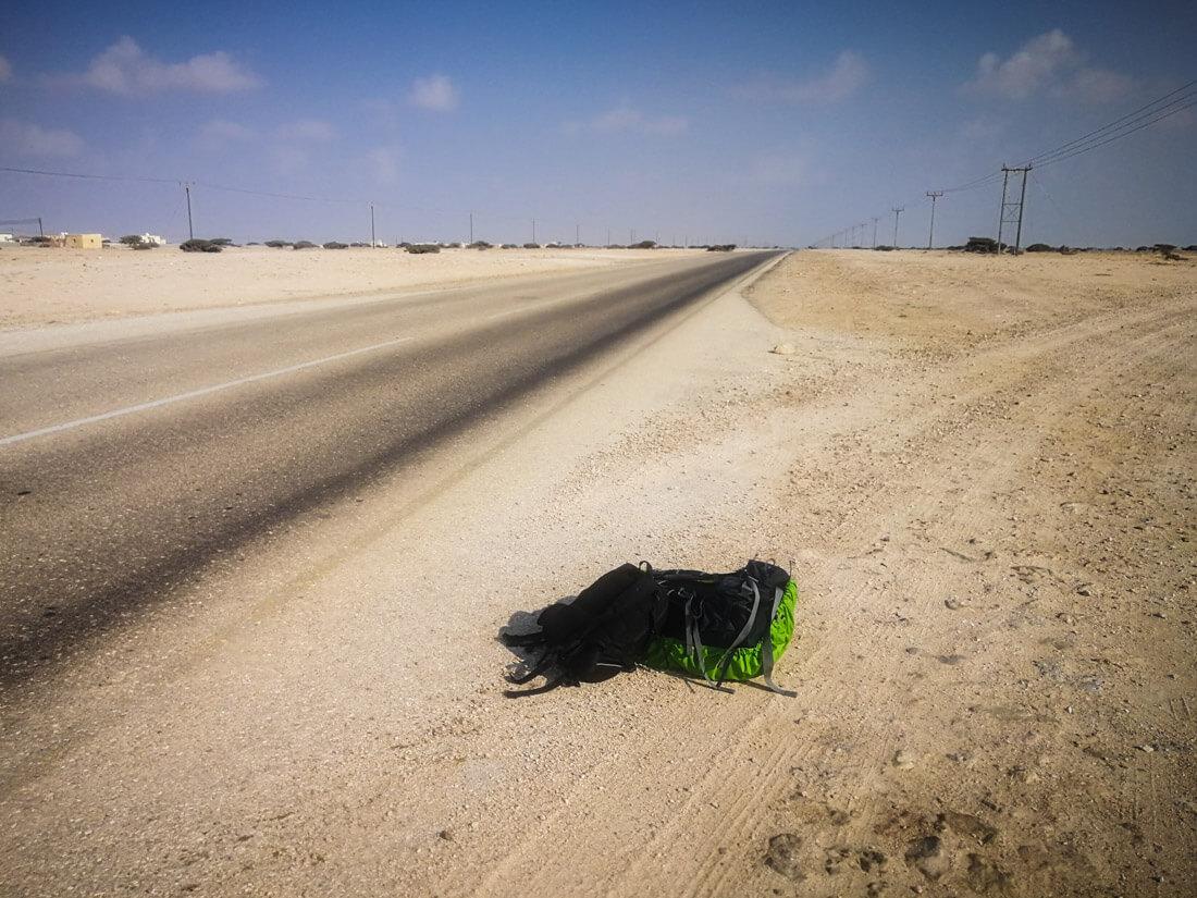 Hitchhiking in Oman