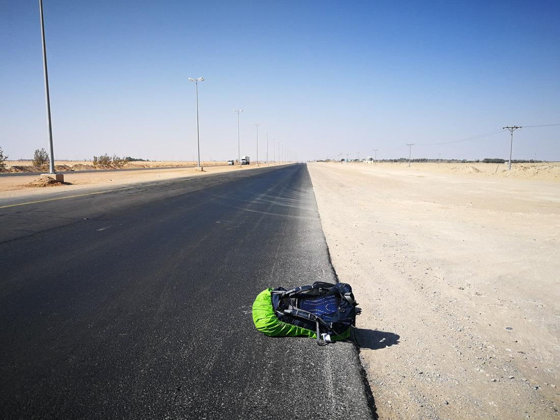 Hitchhiking in Saudi Arabia