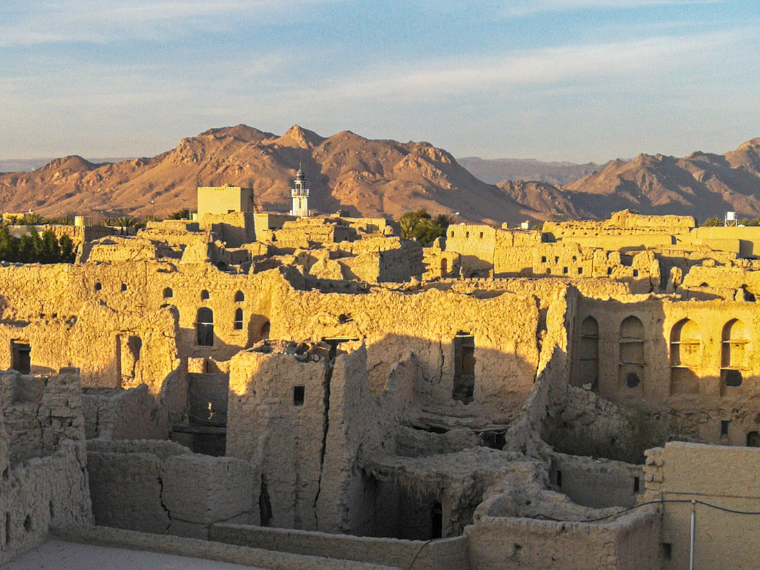 The ruined city of Manah, Oman