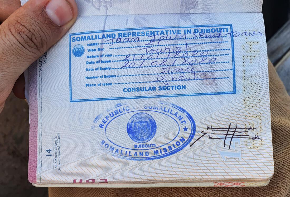 visa for Somaliland