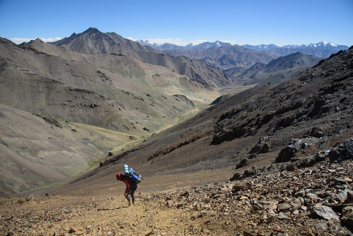 hiking in Central Asia