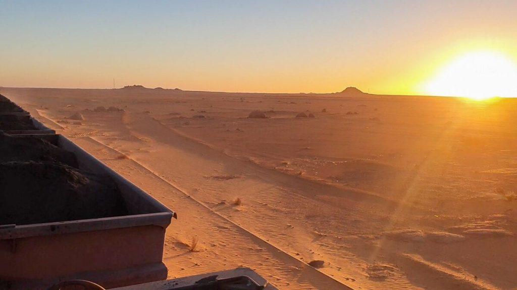Sahara sunset from the Iron Ore Train
