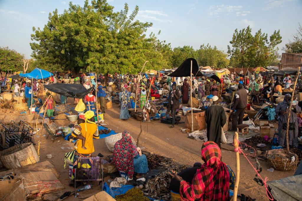 Mercado de los lunes en Ségou