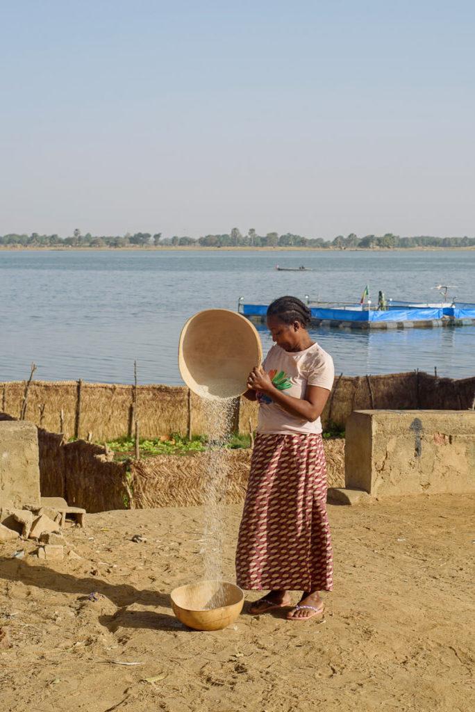 El río Niger Mali