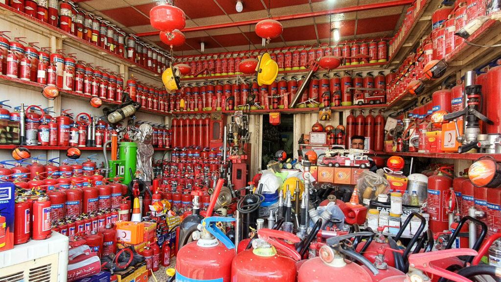 A fire extinguisher shop Mosul